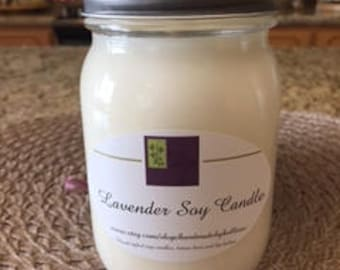 Lavender Handmade Soy Candle