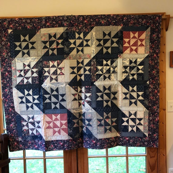 Miraculous Patchwork Quilt Ohio Star Design Lap Quilt Couch Throw Quilt Small Bed Quilt 54 Inch By 66 Inch Spiritservingveterans Wood Chair Design Ideas Spiritservingveteransorg