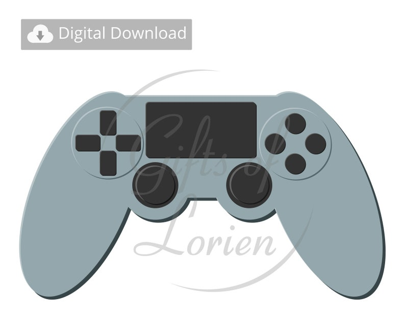 Controller Vector Video Game Controller Gaming Controller Controller Svg Image Png Eps File Ps4 Digital Download