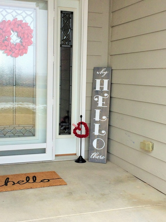 housewarming gift tall welcome sign front porch decor welcome sign for front door