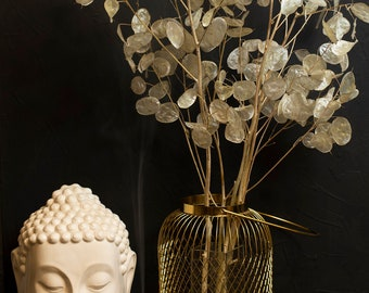 Natural Pearl Lunaria stems 17,8-19,8 B-25 Silver dollar leaves Dried Money plant Winter wedding decor Autumn Winter centerpiece
