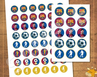 Fc Barcelona Stickers.Barcelona Stickers Etsy