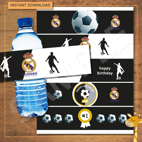 Real Madrid Water Official Football Bottle Gift for Birthday Christmas