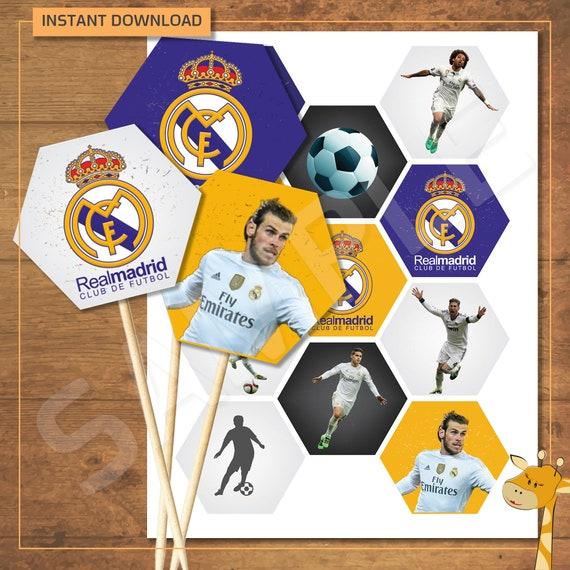 SPORTS CLUB COMPANY LOGO PRINTED CUPCAKE TOPPERS ANY FOOTBALL TEAM