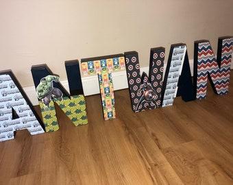 Avenger inspired*paper mache letters*