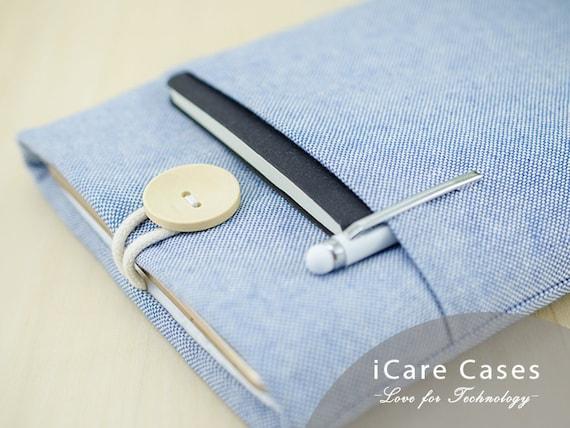 MacBook Air Case MacBook 13 Case MacBook 13 Inch Mac Air 13 Inch Case Computer Case MacBook Air MacBook Sleeve 13 MacBook Cotton Blue