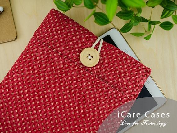 Macbook Air 13 Sleeve iPad Pro 12 9 Case Macbook Pro Case 4 7 8 11 12 14 15 16 10 5 10 2 10 9 Inch 2020 2021 Generation Polka Dot Red Beige
