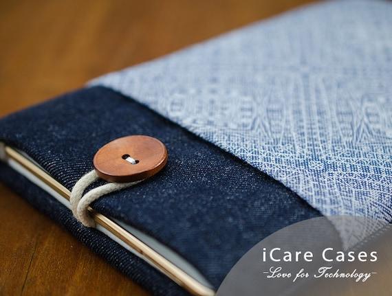 Macbook Air Case iPad Case Macbook Pro 13 Sleeve 4 7 8 11 12 14 15 16 12 9 10 5 10 2 10 9 Inch 2020 2021 Laptop Jeans Blue Geometric Cover