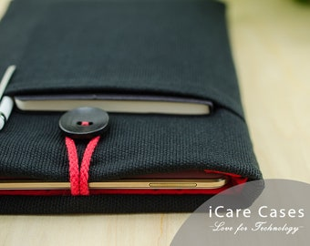 iPad Air 4 Case Macbook Air Case iPad Pro Sleeve 7 8 11 12 13 14 15 16 12 9 10 5 10 2 10 9 Inch 2020 2021 With Pocket Black Red Laptop Mini