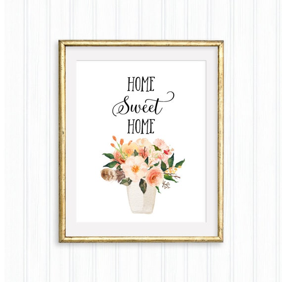 image about Flower Pot Printable named Dwelling Lovable House, Flower Pot Printable, Potted Flower, Botanical Print, Watercolor Flower, Botanical Décor, Floral Portray Print, Property Décor