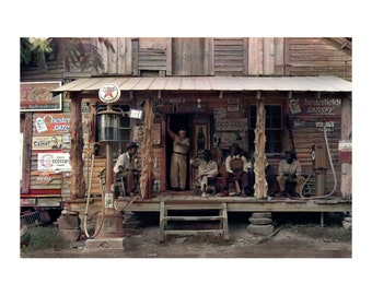 The Store. Art print or Canvas wrap. Americana, Carolina, vintage America, 1940's photograph digital art, wall decor, wall art,