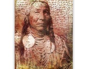 Native American Art Print, Native American Indian, First Nations, Indigenous,  Grandfather, Father, male gift, Xmas gift
