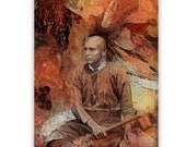 Native American Art Print 'Mohawk' Native American Indian. First nations People, Mohican, Grandfather, Father, male gift, Xmas gift