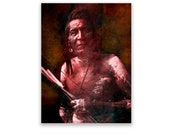 Native American Art Print 'Bow and arrow'. Native American Indian, First Nations, Indigenous, grandfather, husband, male gift, Xmas gift