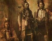 Native American Art Print 'Kiowa Tribe'. Native American Indian, Ohio, First Nations Grandfather, father, male gift, Xmas gift