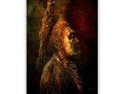 Native American Art Print Native American Medicine man, First Nations, indigenous, Grandfather, father, male gift. Xmas gift
