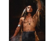 Native American Art Print 'Offering Thanks'. Native American Indian, First Nations, Indigenous, Prayer Blessings, Rituals. Male gift