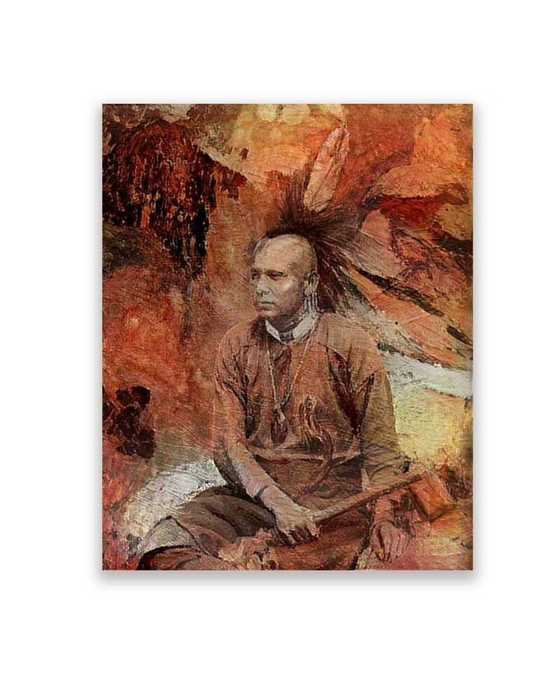 Native American Art Print 'Mohawk' Native American image 0