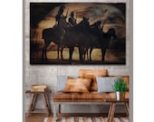 Native American Art Print or Canvas Wrap, Native American Indians. First Nations landscape, eagle, horse rider, male gift. Xmas gift