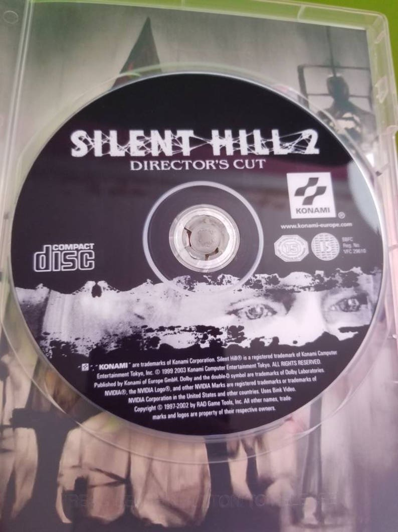 Silent hill 2 greatest hits directors cut reproduction case with free art  disc and Rom for PlayStation 2 PS2