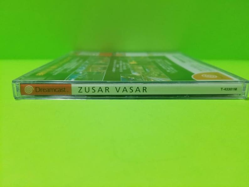Zusar vasar custom reproduction case with free art disc and Rom file for the Sega dreamcast