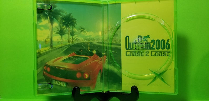 reproduction custom case of OutRun 2006 Coast 2 Coast with free art disc  and working rom for the Xbox classic