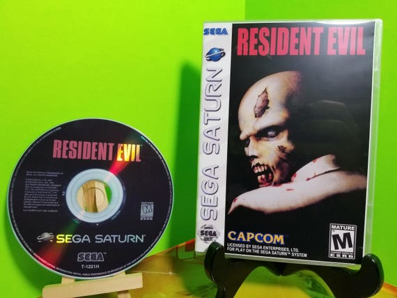 Resident Evil reproduction DVD case and free art disc with rom for the Sega  Saturn