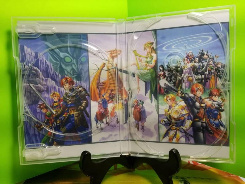 Shining Force 3 , Scenario 1,2,3 reproduction case art with free art discs  and roms