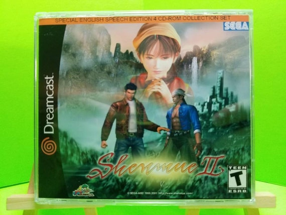 Shenmue 2 dreamcast reproduction Jewel case n disc with rom files