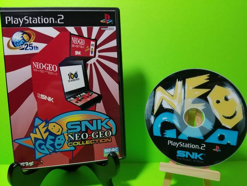 Neo geo snk complimation reproduction DVD case with free art disc with Rom  for the PlayStation 2 , ps2