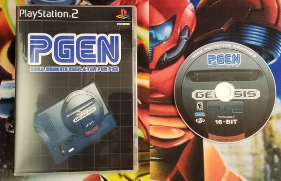 Pgen Sega genesis emulator reproduction case and free art disc for the ps2  playstation 2