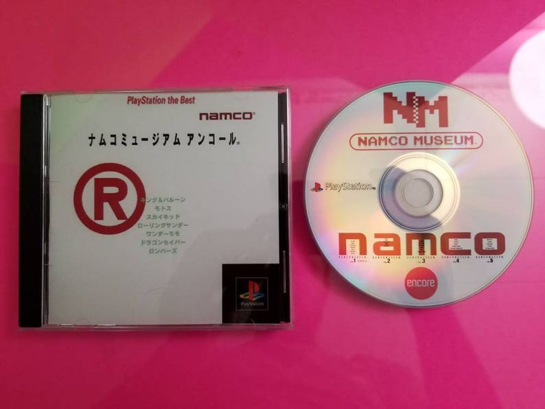 Namco museum encore reproduction case with free art disc with rom