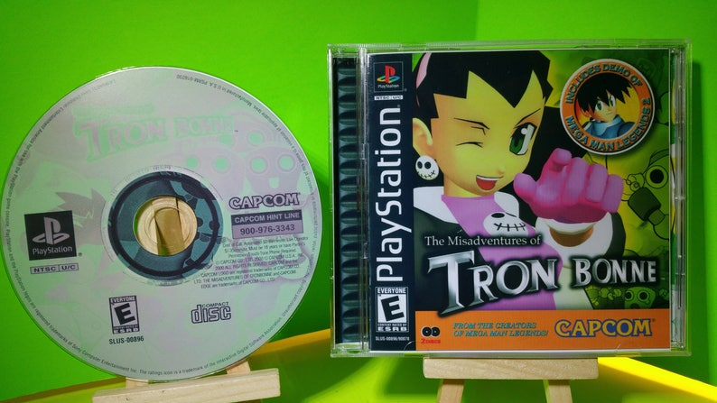 The Miss Adventures of Tron Bonne reproduction case art and free disc with roms