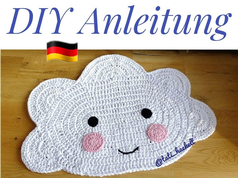 Gut bekannt Anleitung Wolkenteppich Häkelanleitung DIY Wolke | Etsy PC55