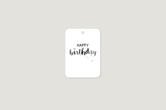 "Gift tags: ""Happy B-Day Heart"""