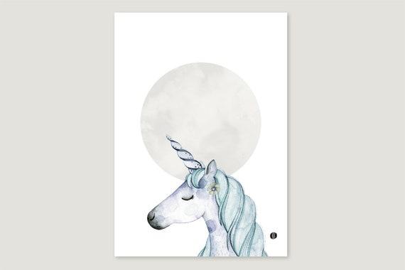 """Art Pressure/Fine Art Print: """"Mond.Einhorn"""""""