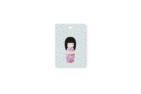 "Gift tags: ""Kokeshi.Dots.Mä2"""