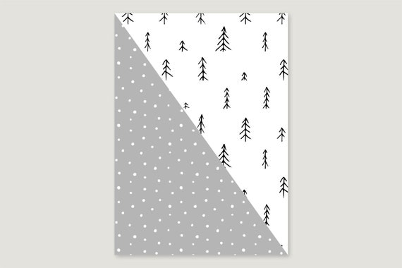 "Wrapping paper: ""Snow fir"""