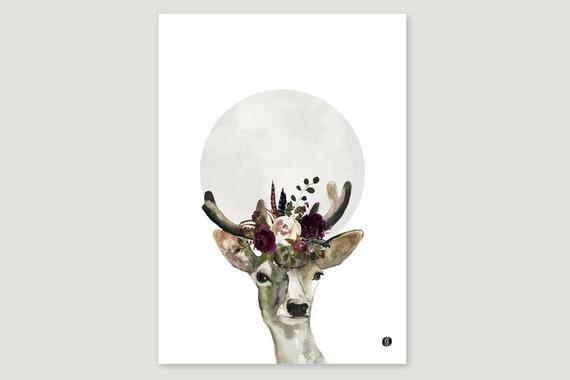 """Art Pressure/Fine Art Print: """"Blumen.Hirsch"""""""