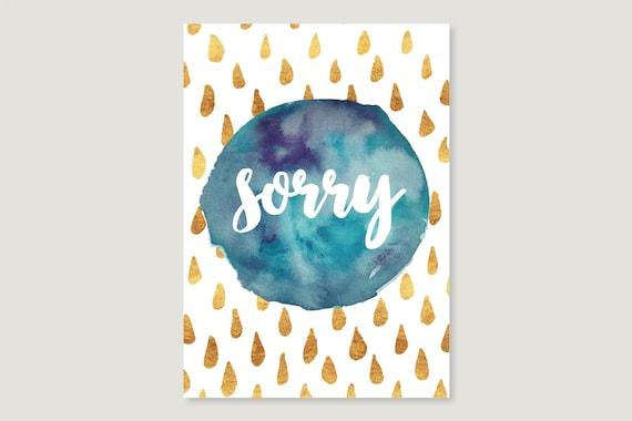 "Postcard: ""Sorry"""