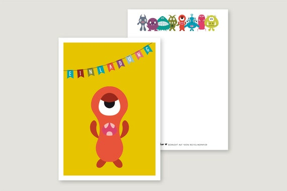 "Invitation Card: ""Monster 5"""