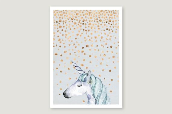 """Postcard: """"Confetti.Unicorn"""""""