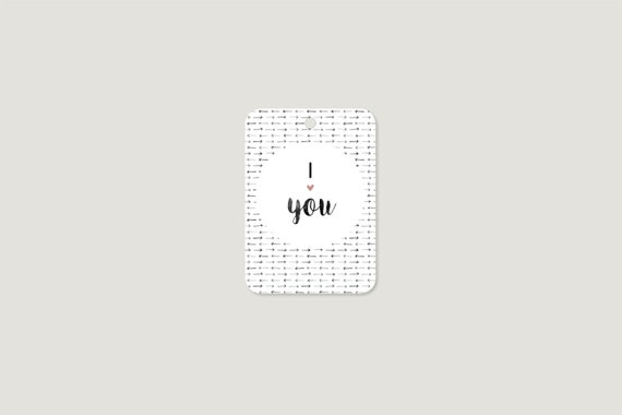 "Gift tag: ""I love you"""