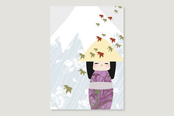 "Postcard: ""Kokeshi September"""