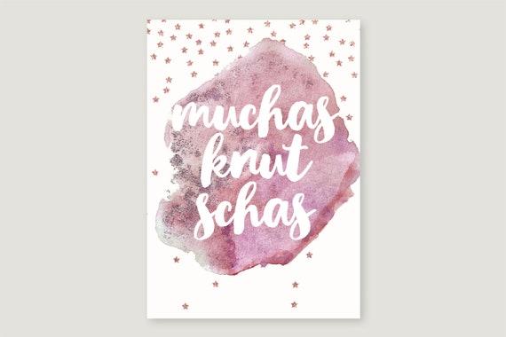 """Postcard: """"Muchas knuchas"""""""