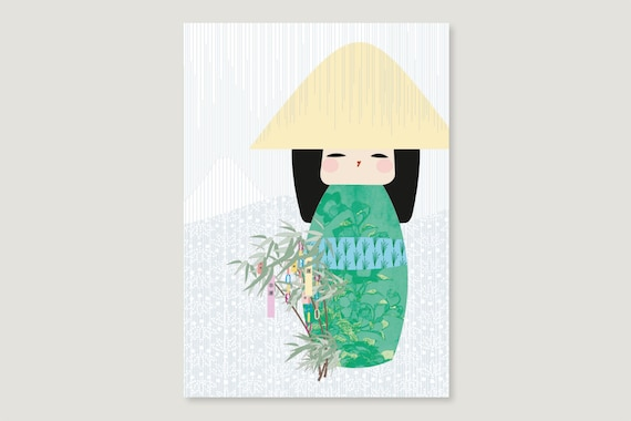 "Postcard: ""Kokeshi June"""