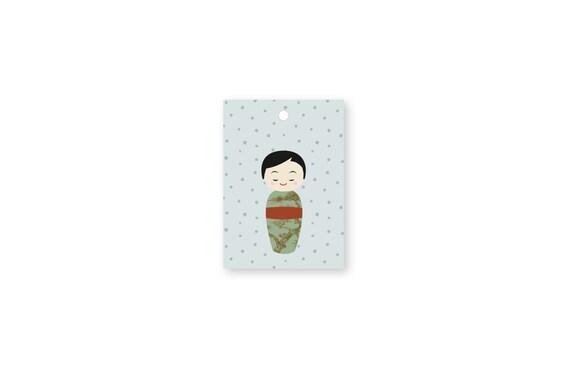 """Gift tags: """"Kokeshi.Dots.Ju1"""""""