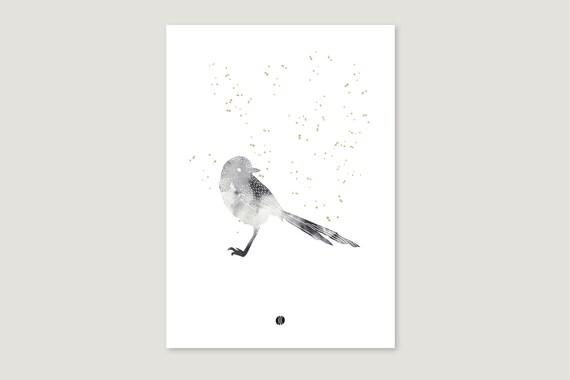 "Art Pressure/Fine Art Print: ""Aqua.Vogel"""
