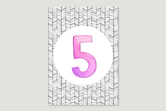"Postcard: ""Five"""