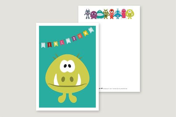 "Invitation Card: ""Monster 4"""